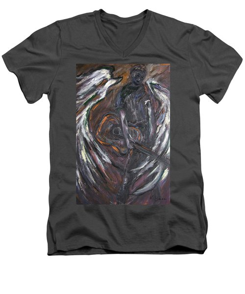 Music Angel Of Broken Wings Men's V-Neck T-Shirt