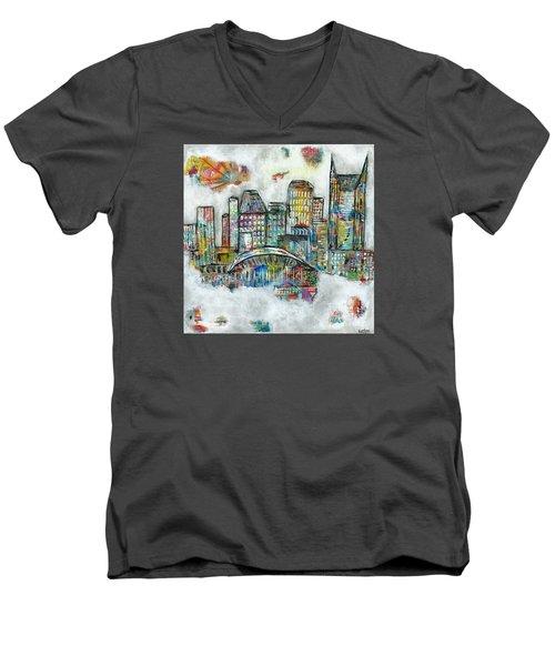 Music City Dreams Men's V-Neck T-Shirt by Kirsten Reed