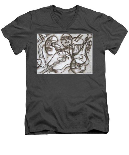 Music Dreams And Illusions Men's V-Neck T-Shirt