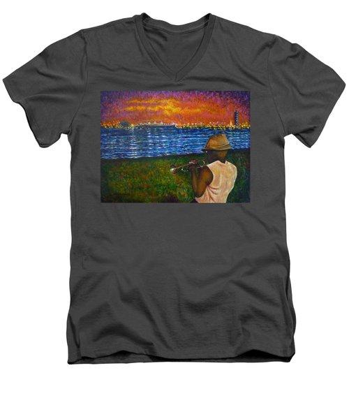 Music Man In The Lbc Men's V-Neck T-Shirt