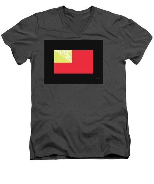 Men's V-Neck T-Shirt featuring the digital art Music Notes 2 by David Bridburg