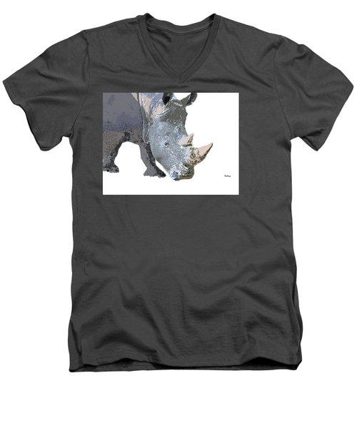 Men's V-Neck T-Shirt featuring the digital art Music Notes 24 by David Bridburg