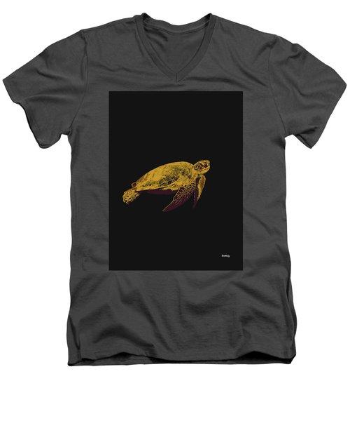 Men's V-Neck T-Shirt featuring the digital art Music Notes 30 by David Bridburg