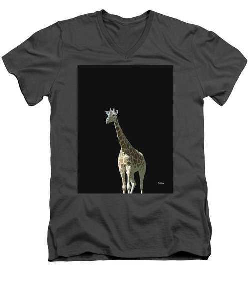 Men's V-Neck T-Shirt featuring the digital art Music Notes 32 by David Bridburg