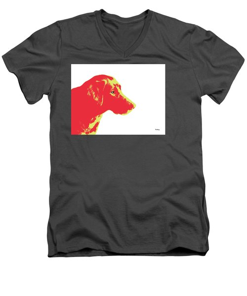 Men's V-Neck T-Shirt featuring the digital art Music Notes 6 by David Bridburg