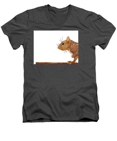 Men's V-Neck T-Shirt featuring the digital art Music Notes 7 by David Bridburg