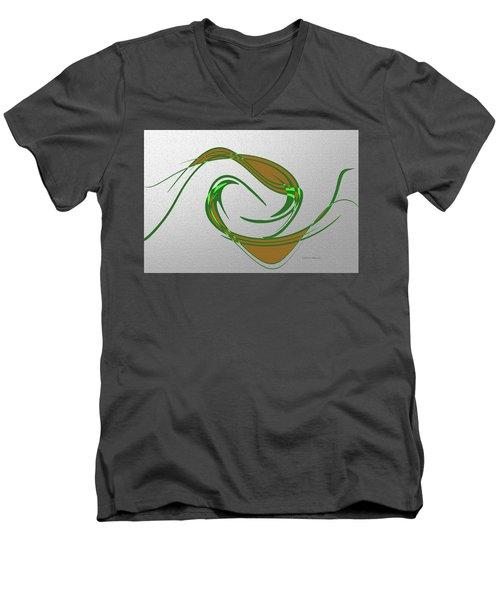 Music Takes Flight Men's V-Neck T-Shirt by Lenore Senior