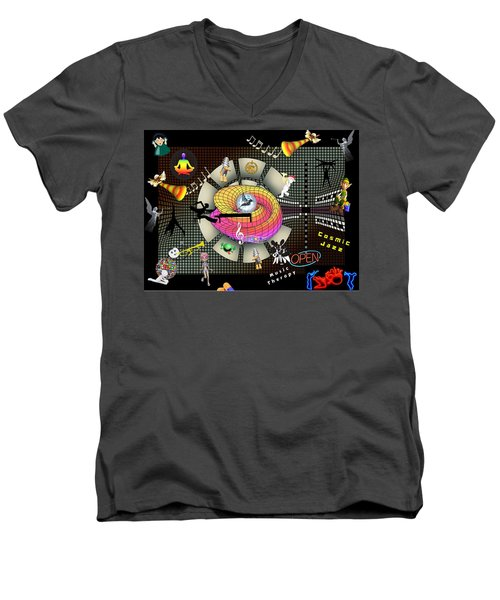 Music Therapy Men's V-Neck T-Shirt