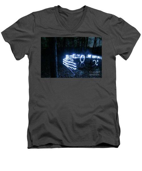 Music Woods Men's V-Neck T-Shirt