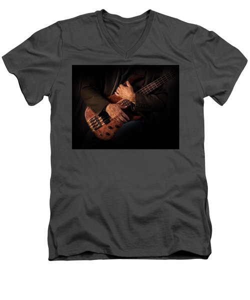 Musician's Hands Men's V-Neck T-Shirt by David and Carol Kelly
