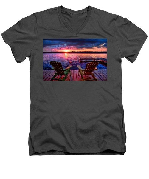 Muskoka Chair Sunset Men's V-Neck T-Shirt