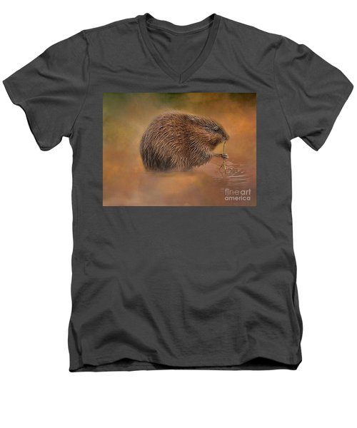 Muskrat Snack Men's V-Neck T-Shirt