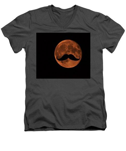 Mustache Moon Men's V-Neck T-Shirt