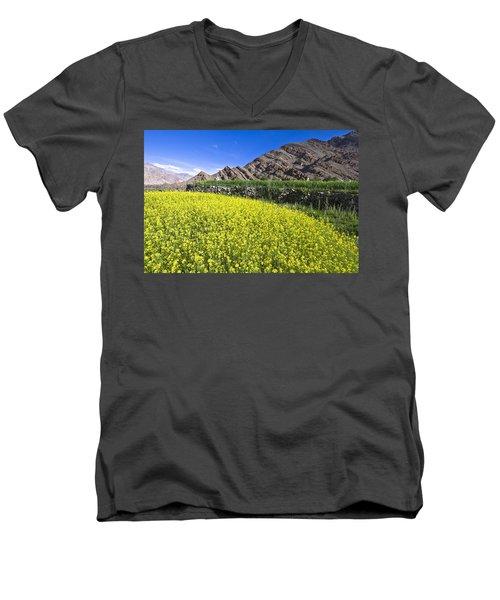 Mustard Field, Hemis, 2007 Men's V-Neck T-Shirt