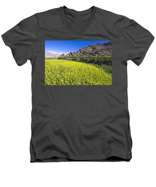 Mustard Field, Hemis, 2007 Men's V-Neck T-Shirt