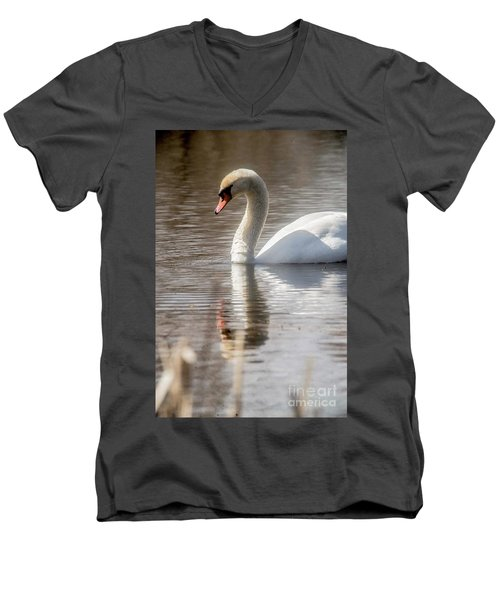 Men's V-Neck T-Shirt featuring the photograph Mute Swan - 2 by David Bearden