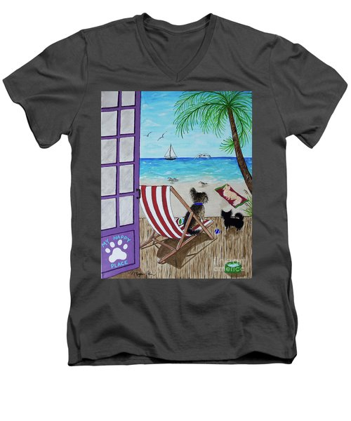 My 3 By The Sea Men's V-Neck T-Shirt