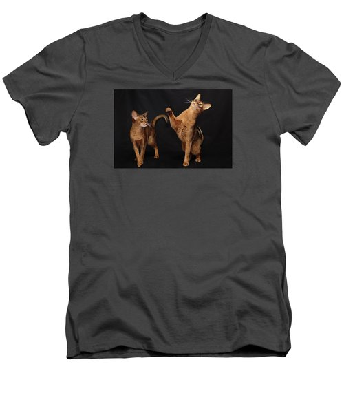 Men's V-Neck T-Shirt featuring the photograph My Abys by Gary Hall