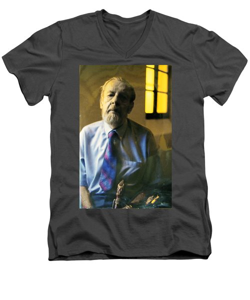 Men's V-Neck T-Shirt featuring the photograph My Beautiful Friend by Lenore Senior