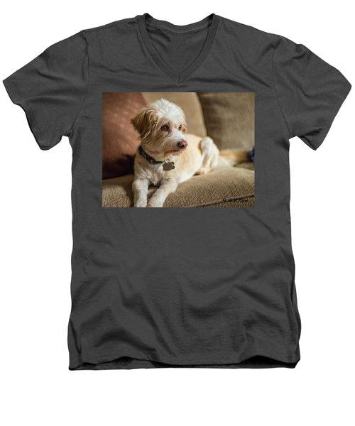 My Best Friend Men's V-Neck T-Shirt