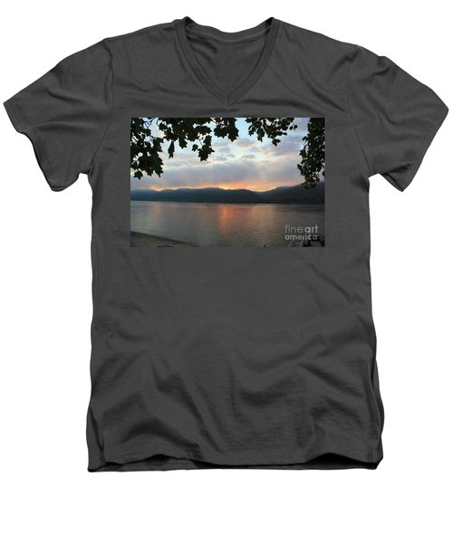 My Birthday Sunrise Men's V-Neck T-Shirt