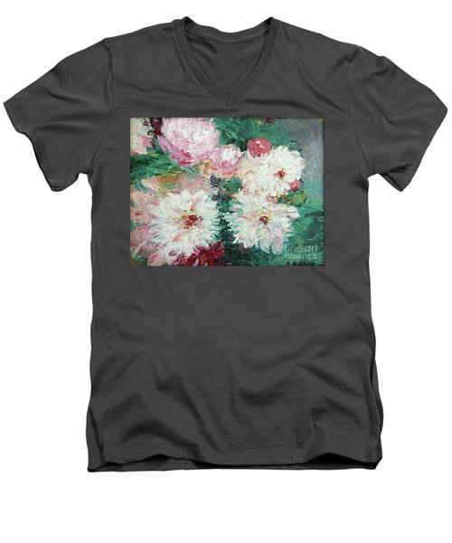 My Chrysanthemums Men's V-Neck T-Shirt