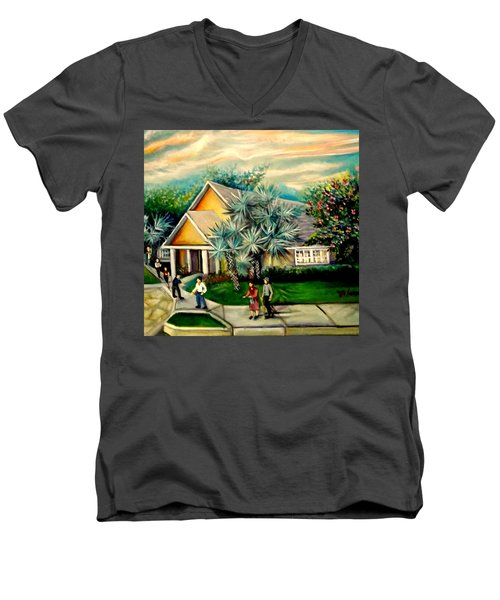 My Church Men's V-Neck T-Shirt by Yolanda Rodriguez