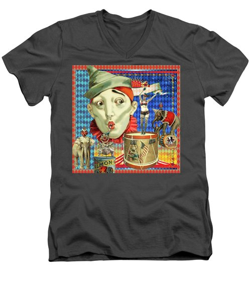 Men's V-Neck T-Shirt featuring the photograph My Circus by Jeff Burgess