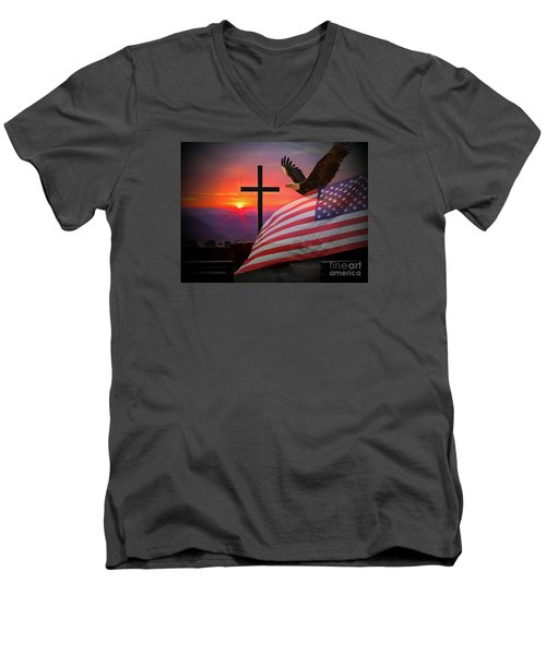 My Country Men's V-Neck T-Shirt