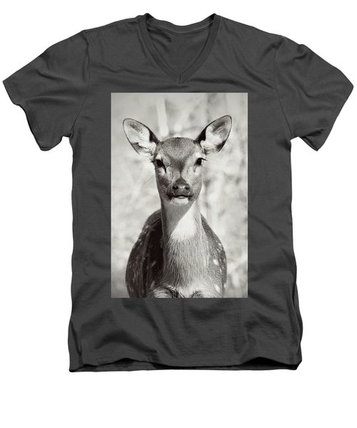 Men's V-Neck T-Shirt featuring the photograph My Dear by Jessica Brawley