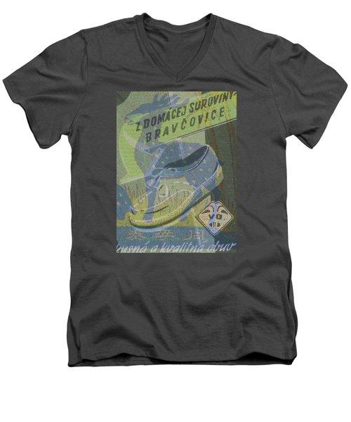 My Deer Shoe Men's V-Neck T-Shirt by Nop Briex