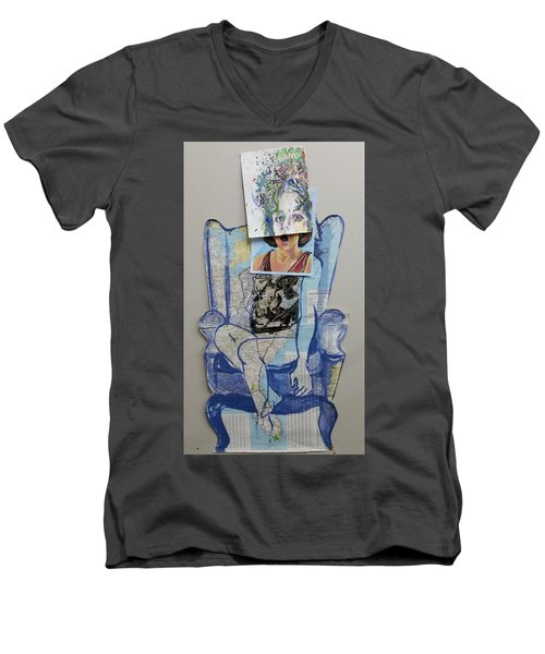 My Foot Is In Miami Men's V-Neck T-Shirt by Tilly Strauss