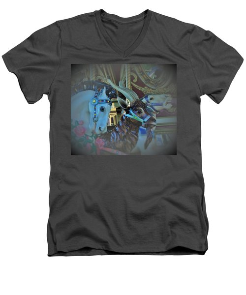Men's V-Neck T-Shirt featuring the photograph My Friends by John Glass