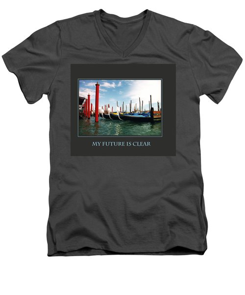 My Future Is Clear Men's V-Neck T-Shirt by Donna Corless