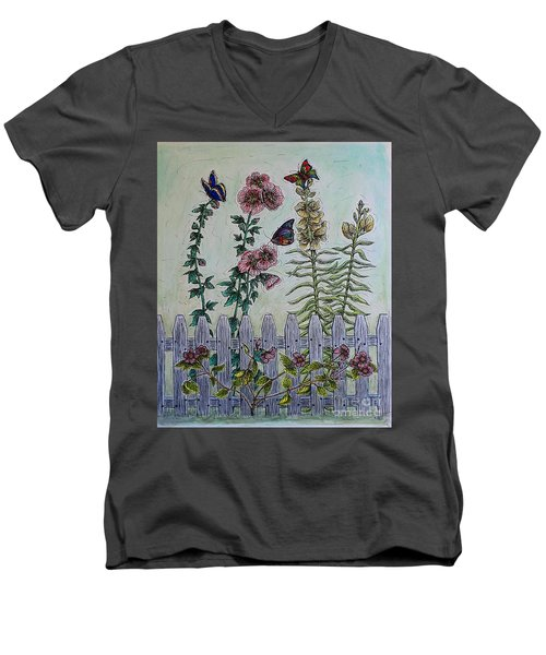 My Garden Men's V-Neck T-Shirt by Kim Jones
