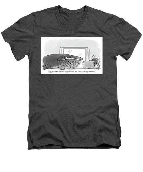 My Greatest Weakness Men's V-Neck T-Shirt