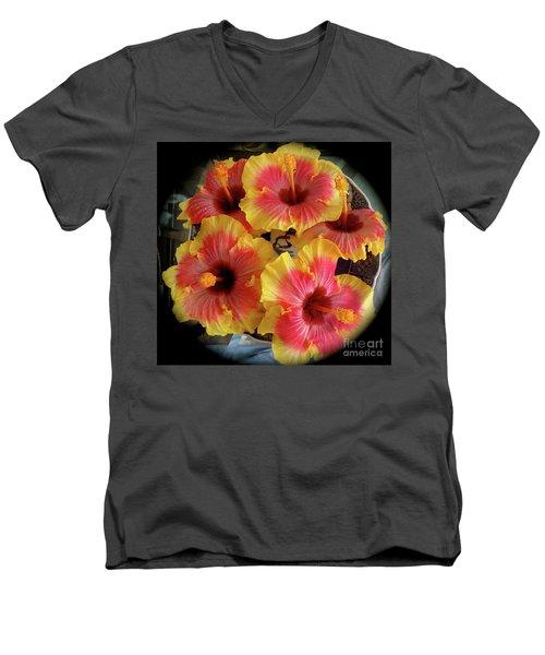 My Hibiscus Garden Men's V-Neck T-Shirt