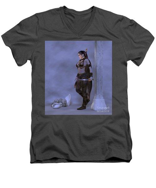 My Country  My Sword Men's V-Neck T-Shirt