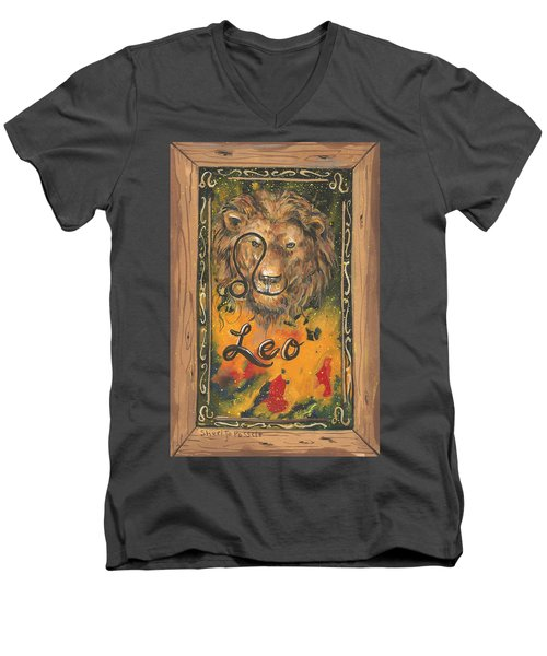 My Leo  Men's V-Neck T-Shirt