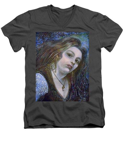 My Mermaid Christan Men's V-Neck T-Shirt by Otto Rapp
