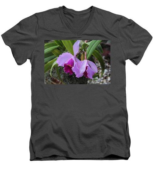 Men's V-Neck T-Shirt featuring the photograph My Orbit by Michiale Schneider