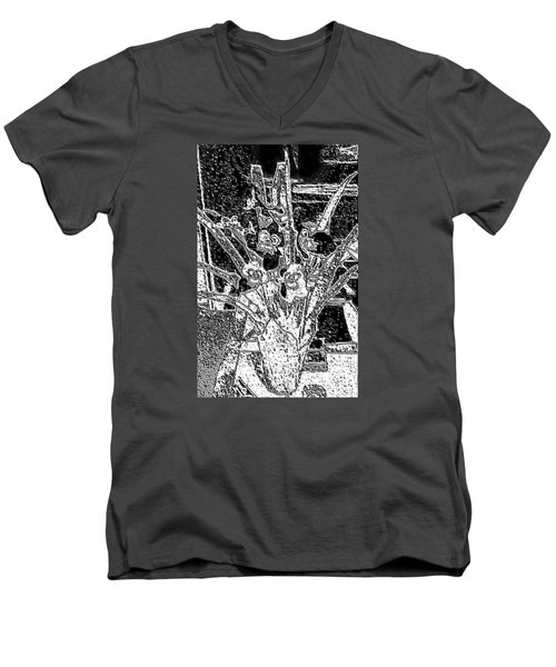 My Orchids Men's V-Neck T-Shirt by Vickie G Buccini