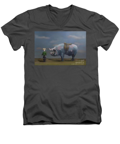 My Pony Men's V-Neck T-Shirt by Kathy Russell