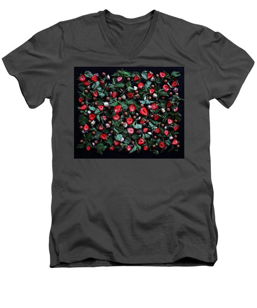 My Real Strawberry Patch Men's V-Neck T-Shirt