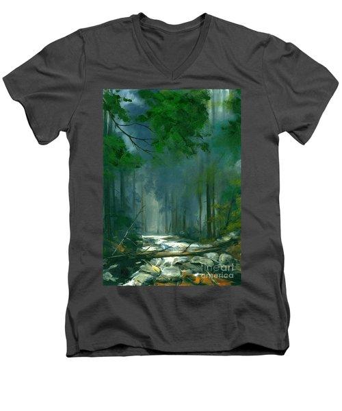 My Secret Place II Men's V-Neck T-Shirt by Michael Swanson
