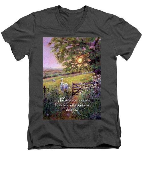 My Sheep Hear My Voice Men's V-Neck T-Shirt