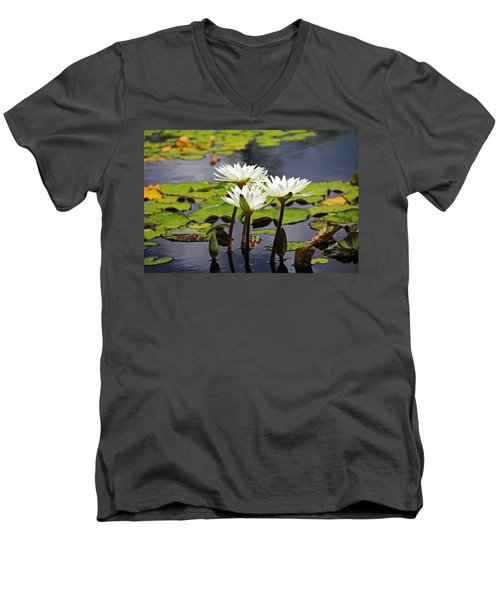 Men's V-Neck T-Shirt featuring the photograph My Sweetest Madness by Michiale Schneider