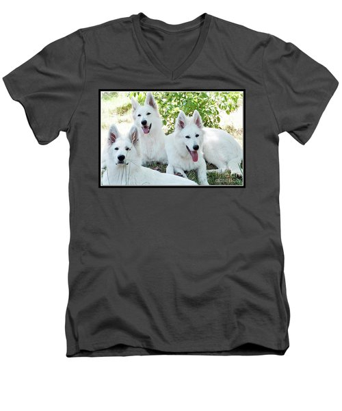 My Three Amigos Men's V-Neck T-Shirt