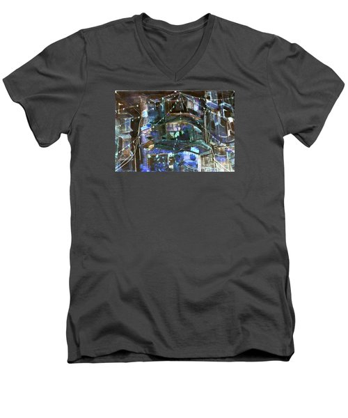 My Town In Festive Mood Men's V-Neck T-Shirt