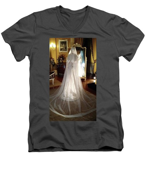 Men's V-Neck T-Shirt featuring the photograph My Wedding Gown by Gary Smith